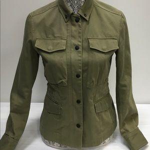 Rag & Bone Olive Cotton Utility Jacket Size 2